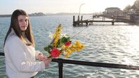 Solitary floral tribute to the Titanic in Cobh marks ill-fated voyage