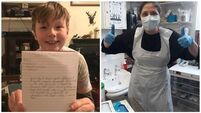 Somebody I admire: Nine-year-old pens letter to nurse helping the homeless during Covid 19 crisis
