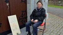 One-man protest over Covid church closures