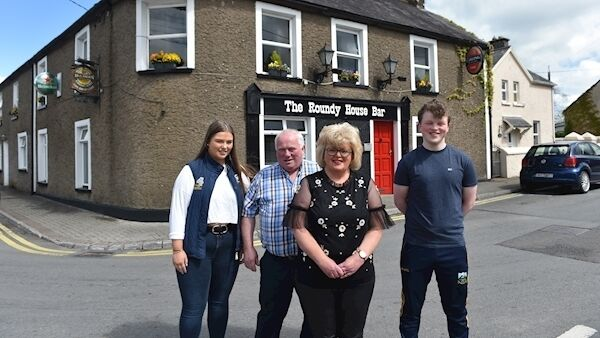 Richard, Liz, Robert and Emily O'Connor outside their pub, The Roundy House Bar, in Ballyhooley, north Cork.   Photo: Dan Lineham