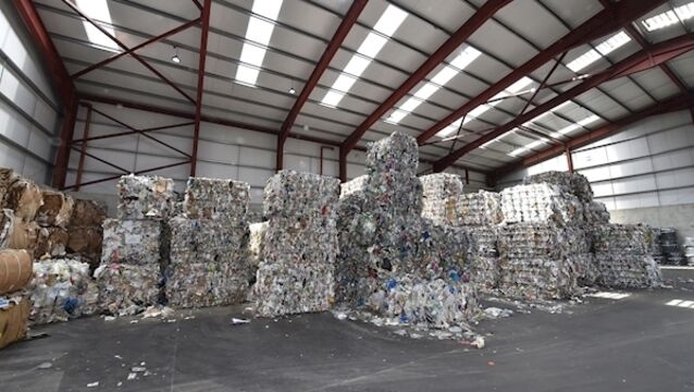 Bales of recycled materials at the Forge Hill recycling centre, Cork.  	Picture: Dan Linehan