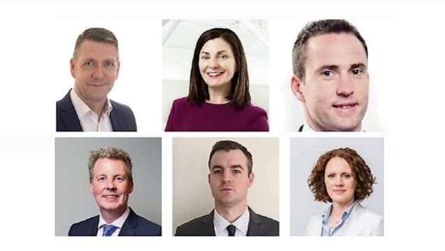 New roles: (top row) David Tighe, Kyla O'Kelly, David Sexton; (bottom row) Conal Doherty, Adam Hall, Emma Hynes.