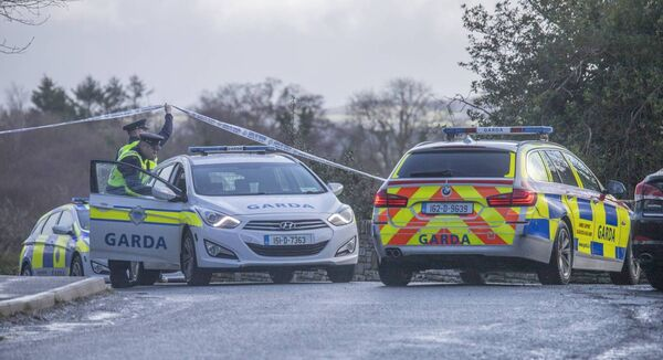 Garda at the scene of a hostage barricade suicidal (HBS) incident in Letterkenny, Co Donegal.	Picture: North West Newspix