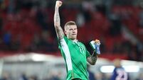 James McClean celebrates the win 12/11/2016