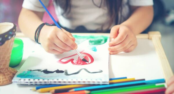 Child, Community, Heart Shape, Art, Painting - Activity