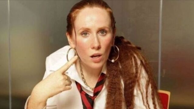 "Catherine Tate, in character as ""Am i bovvered?' Lauren"