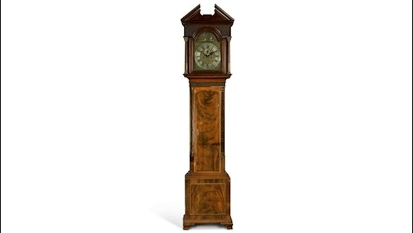A Cork clock by James Aickin at Sotheby's online until next Wednesday.