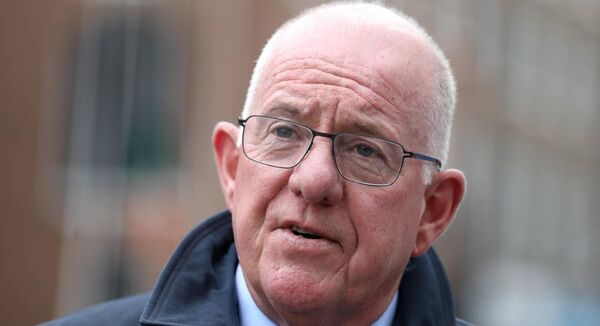 Fine Gael Minister for Justice Charlie Flanagan talking to the media outside Government Buildings, Dublin. Photo: Leah Farrell/RollingNews.ie