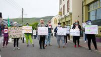 Locals and residents of Direct Provision centre held protest in Cahersiveen