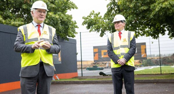 President of CIT Dr Barry O'Connor speaking at the turning of the sod on the new CIT/MTU Arena. Picture Darragh Kane