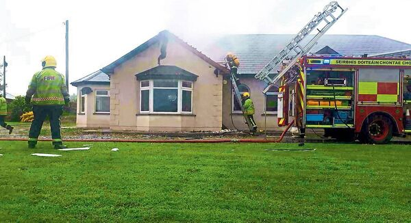 "Gardaí staffing a Covid-19 checkpoint helped save a family home from destruction after a ""freak"" lightning strike saw it catch fire. Photograph Press 22."