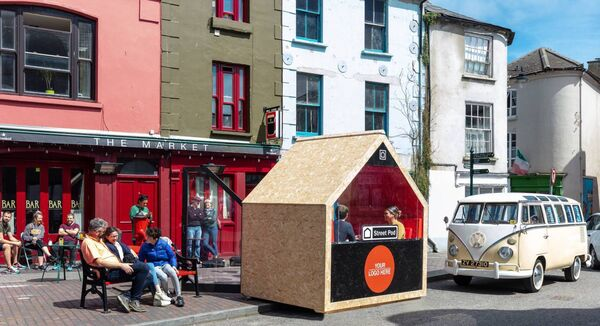 The street pod proposal in Kinsale could see diners sitting outdoors in enclosed pods. Picture: F22 Photography.