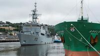 Navy flagship LÉ Eithne departs Cork after Covid-19 deployment