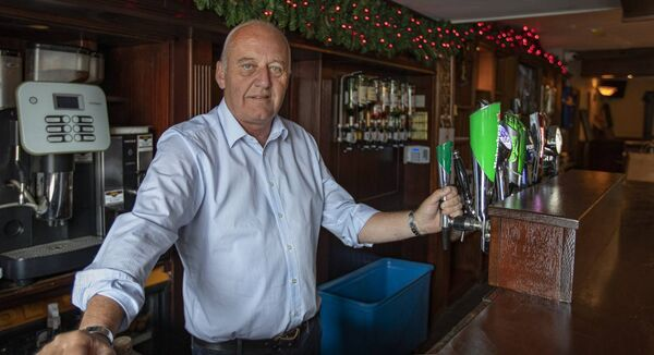 John Harney behind his bar in his pub Harney's Final Furlong in Clerihan Clonmel Co Tipperary. Picture: John D Kelly
