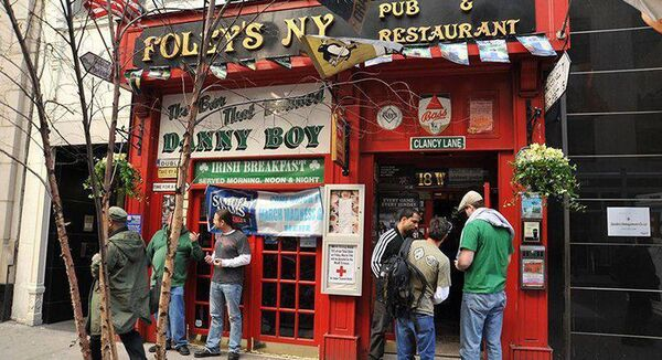 Foley's pub and restaurant in New York City