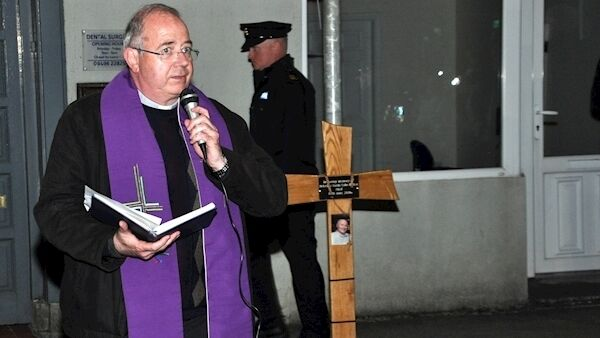 Fr. John McManus leading a prayer service in Castlerea