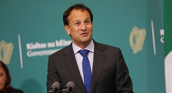 Taoiseach Leo Varadkar during a briefing in the Government Buildings in Dublin. -Julien Behal-
