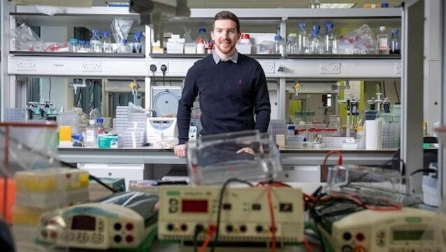 Mark O'Sullivan, a PhD student at University College Cork, developed Neurobell, to help clinicians diagnose abnormal brain activity in infants faster and with greater accuracy.  Picture: UCC