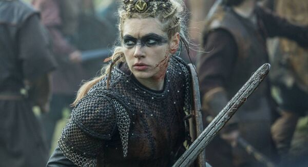 Katheryn Winnick as Lagertha in 'Vikings'. The film company Octagon was claimed to be involved in its production in Ireland. Picture: File Image