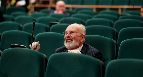 Senator David Norris at the Convention Centre for the first sitting of the 26th Seanad. Picture: Maxwells