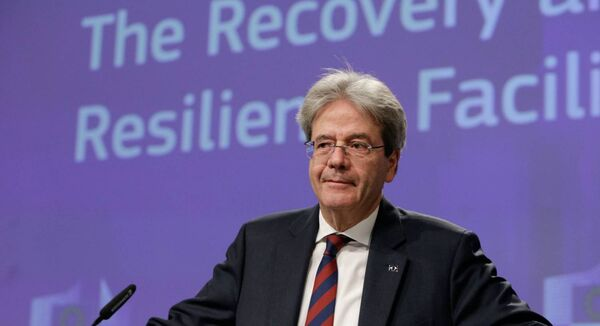 """The European Commission wants a global solution to bring corporate taxation into the 21st century,"" EU Economic Affairs Commissioner Paolo Gentiloni. Pic:REUTERS"