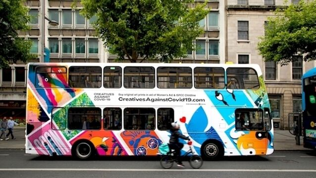 Artworks to cover Dublin Buses in Childline and Women's Aid fundraiser