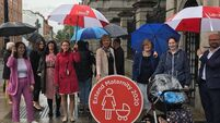 Mothers gather outside Dáil in call for extension of maternity leave
