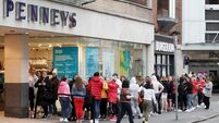People queue from early morning ahead of Penneys reopening