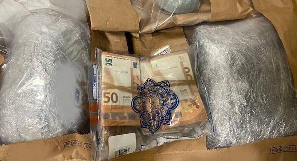 Gardaí seized money and suspected drugs in Drogheda. Picture: Gardaí