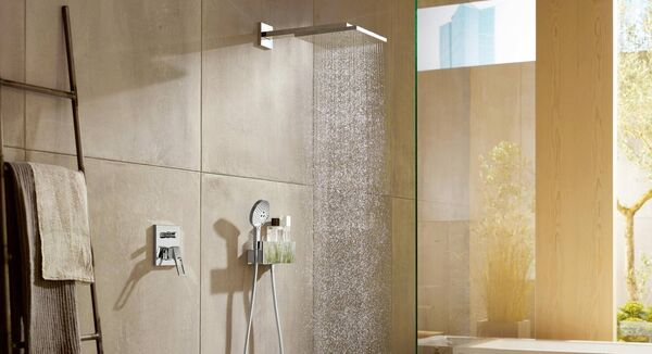 Hansgrohe Raindance E, from €1,373 from a range of suppliers, hansgrohe.ie. The lower wand of a twin shower is useful for smaller members of the family.