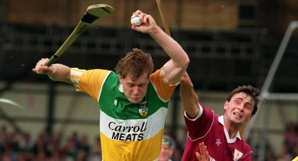 Offaly's Daithi Regan in action against Liam Burke of Offaly. Picture: Ray McManus/SPORTSFILE