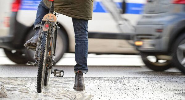 A number of cyclists break red lights, putting their lives at risk.