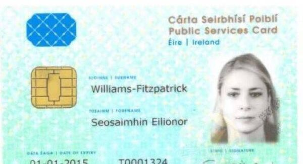 "Abolishing the public services card was not ""considered a priority"" in government talks, say the Green Party. File Picture of a Public Services Card."
