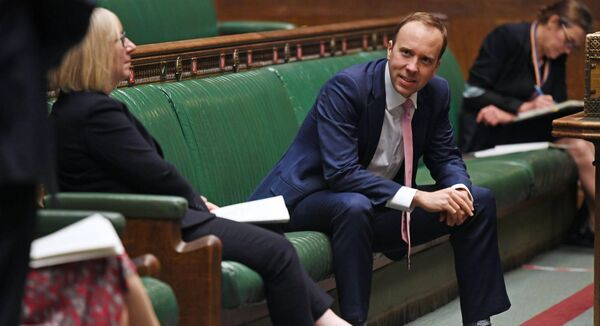 Health Secretary Matt Hancock listening to an urgent question related to coronavirus in the House of Commons, London. Picture: UK Parliament/Jessica Taylor/PA Wire