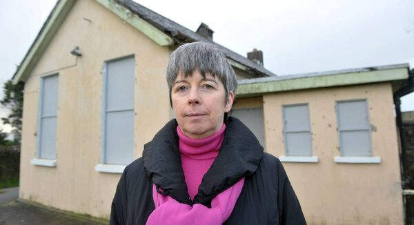 Louise O'Keeffe who was the victim of sexual abuse pictured outside Dunderrow National School, Kinsale, Co. Cork. Picture: Dan Linehan