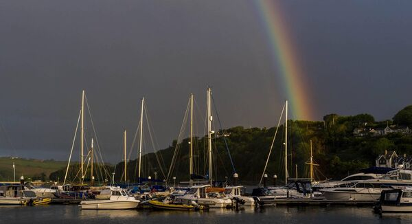 Kinsale, West Cork, Ireland last Monday - a day of sunshine and showers. Picture: Andy Gibson
