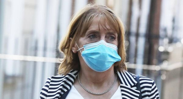 Co-leader and co-founder of the Social Democrats Róisín Shortall wearing a face mask as she arrived at Leinster Houselast month. Picture: Leah Farrell/RollingNews.ie