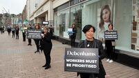 Former Debenhams staff will prevent stock leaving stores until they are paid
