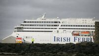 Irish Ferries see passenger numbers fall 60% this year