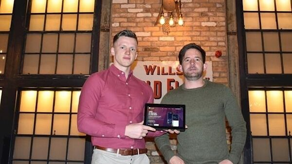 DrinkApp launch: James Freeman, head of operations, with Ryan Fegan, a co-founder of DrinkApp.
