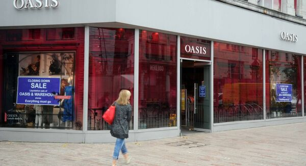 A closing down sale is currently taking place in the Oasis store on St. Patrick's Street.