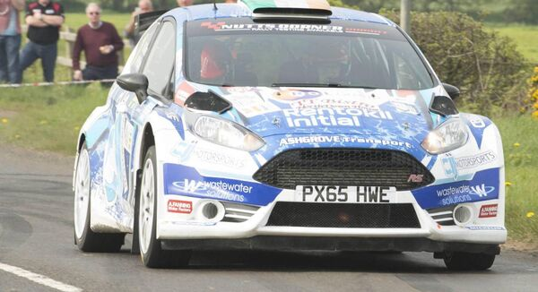 Reigning Irish Tarmac Rally champions Craig Breen/Paul Nagle (Ford Fiesta R5) on their way to victory in last year's Wastewater Solutions Easter Rally in Antrim. Picture: Martin Walsh.