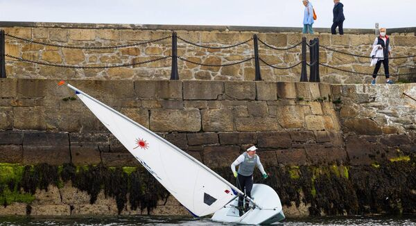 Olympic medallist Annalise Murphy pictured at Dún Laoghaire upon her returned to sailing after restrictions were lifted last month. Photograph: David Branigan/Oceansport