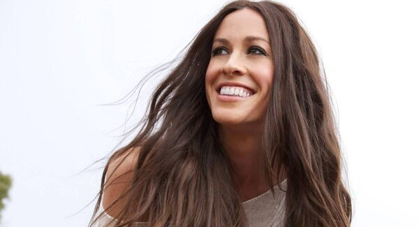 Alanis Morissette in concert; her 'Jagged little Pill' album is now a musical and instead of 'monologically performing it' she is now able to receive it. Picture: Zak Hussein/PA