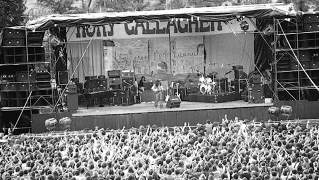 Rory Gallagher on stage in Macroom in 1977. Picture: Irish Examiner