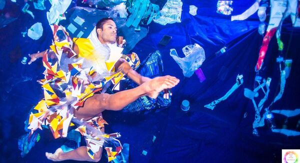 Royal Ballet soloist Fernando Montaño in 2019's 'Dance for the Sea', which highlights the pollution of the world's oceans and waterways by plastic.	Picture: Robin Conway/PA
