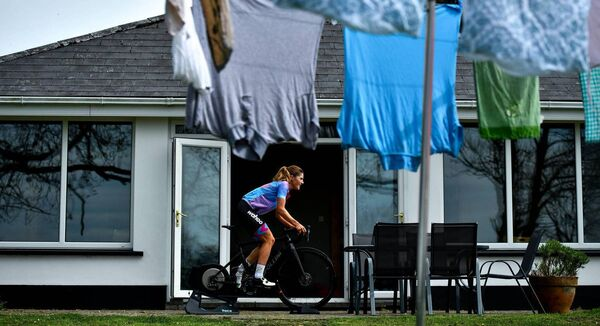 Matt McKerrow: 'We are seeing a bike boom now in terms of sales and the active piece being championed by government and backed by funding as well. Hopefully, people will continue to see the benefits of cycling long after the pandemic.'            Professional cyclist Imogen Cotter during a training session at her home in Ruan, Clare. 		Picture: David Fitzgerald
