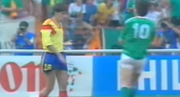 Daniel Timofte after his penalty miss against Ireland.