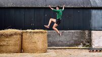 Bale force: Shane Howard happy to make hay on Rathcormac family farm