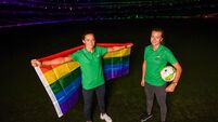 Irish football couple McCabe and Littlejohn speak of pride after coming out